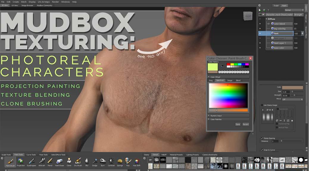 Mudbox texturing tools make photorealism easy