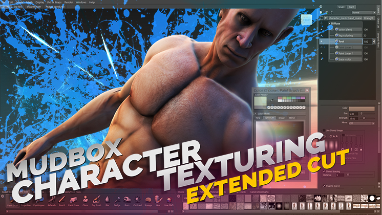 mudbox bodybuilder character texturing video download icon